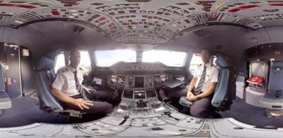Linie Emirates prezentują film 360 stopni z kabiny Boeinga A380