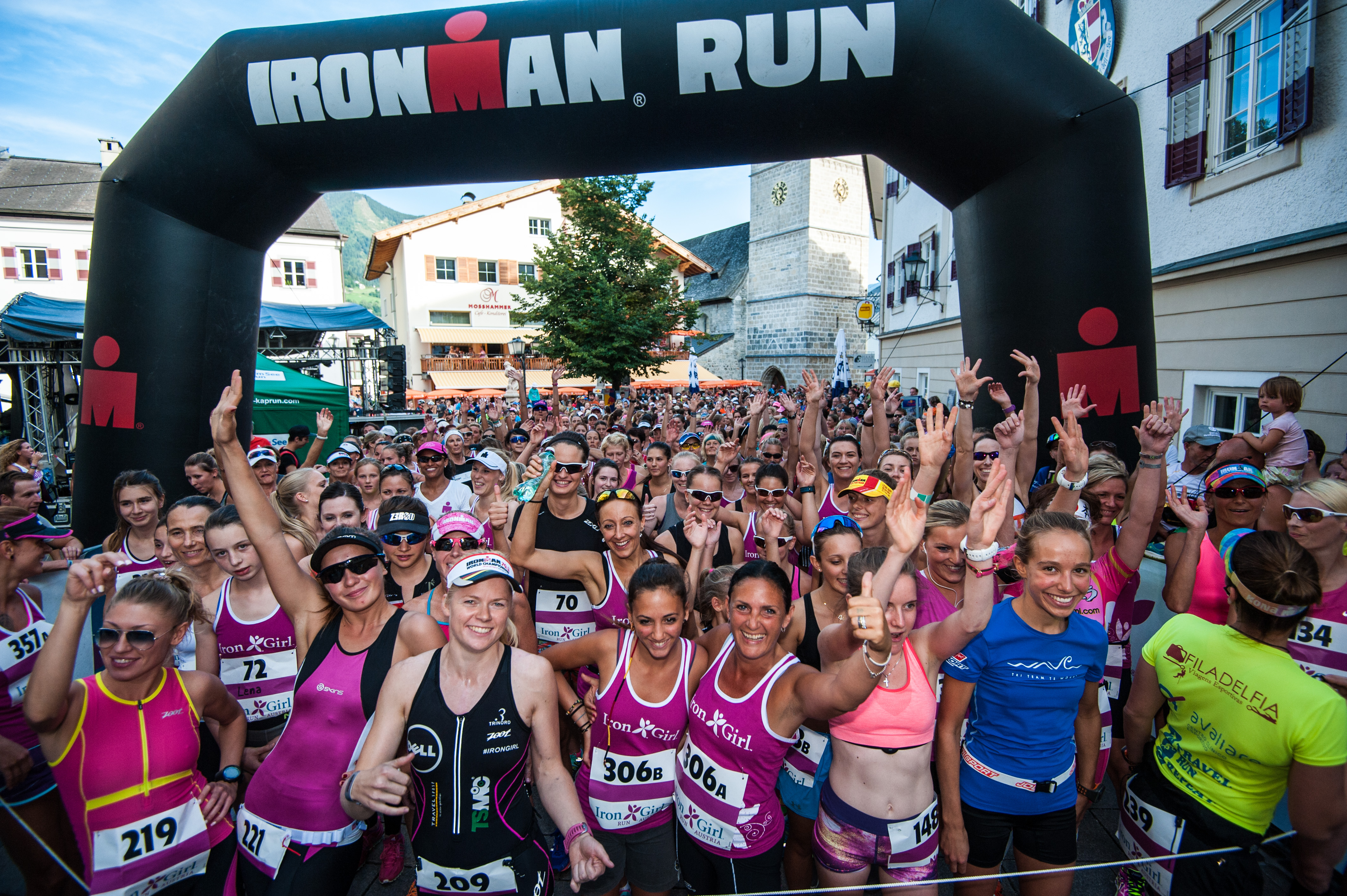 Przed startem Iron Girl Run 2015. Fot. Well am See-Kaprun Tourismus