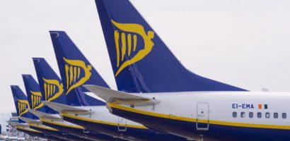 Ryanair odnotował wzrost o 15% w listopadzie